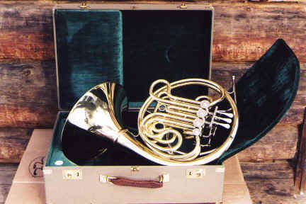 F/Bflat double horn with airline compatible case